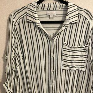 Vixbe Stitch Fix top, striped, size large